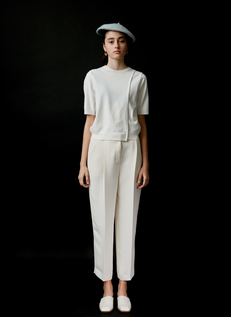 BASIC STRAIGHT PANTS - IVORY