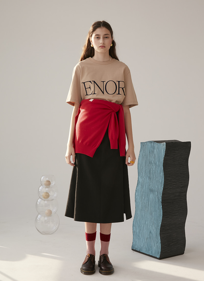 SLIT ENOR SIGNATURE T SHIRT - 3color
