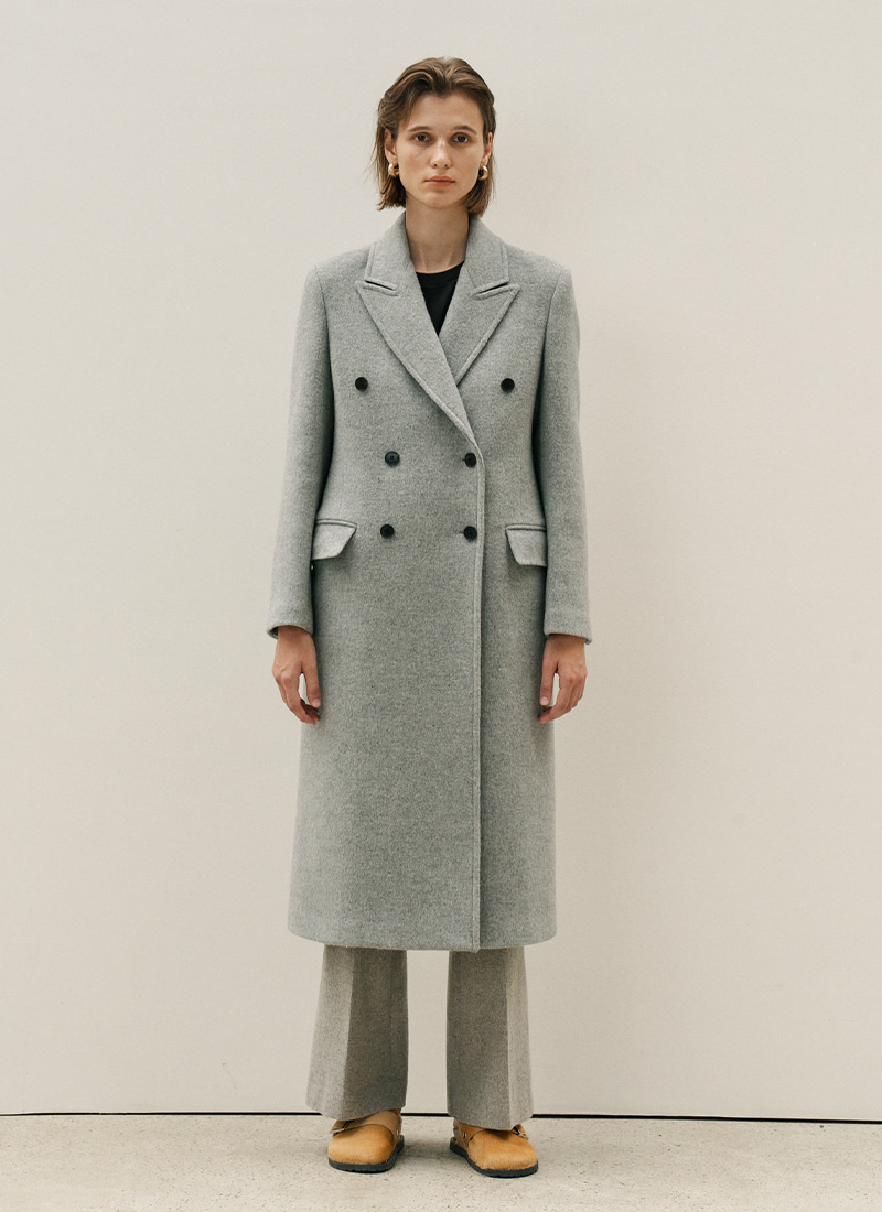 (12/7 예약배송)BASIC DOUBLE COAT - GREY