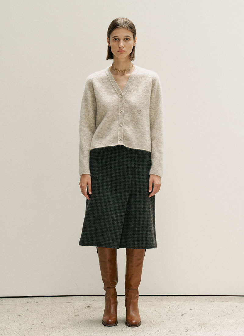 MOHAIR WOOL CARDIGAN - IVORY